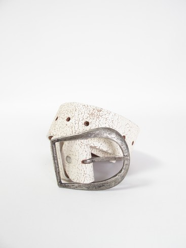 CRACKLE LEATHER CENTURY BELT